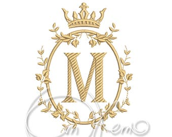 MACHINE EMBROIDERY FILE - Custom Monogram