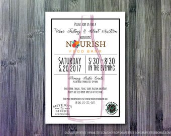 Charity Wine Invitation   Fundraiser or Gala Event   Postcard   Poster   CP7