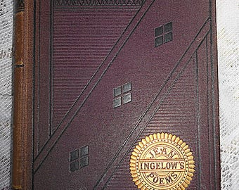 Antique Signed 1878 Jean Ingelow's Poems Book Author's Edition