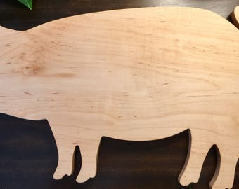 PIG Shaped Custom Engraved Cutting Board,Bacon Pig Cutting Board Market Pig Cutting Board