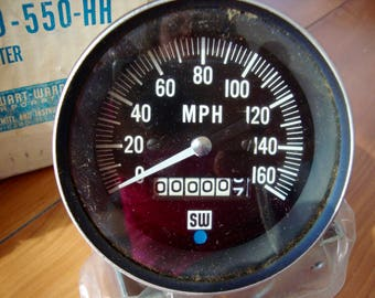 Stewart Warner D-550-HH Mechanical Speedometer-New (NOS)