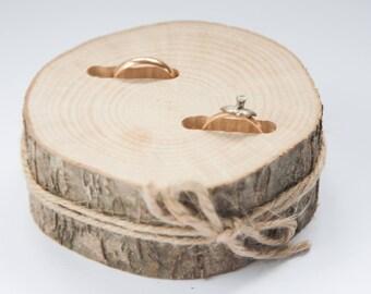 Wooden ring bearer pillow,  wedding ring holder, rustic ring box,  oak wedding decoration, wood wedding decor, ring pillow alternative,