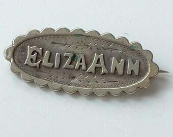 Victorian sweetheart brooch Eliza Ann