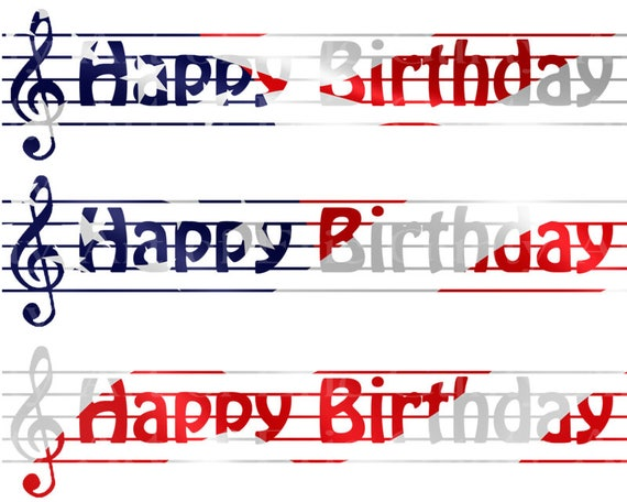 Patriotic Music Band Notes - Birthday Background - Designer Strips - Edible Cake Side Toppers- Decorate The Sides of Your Cake! - D22681