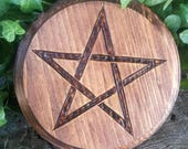 Special Order for RACHEL ONLY! Altar Pentacle - Altar Tile - Altar Paten - Wiccan Altar - Pentacle Altar