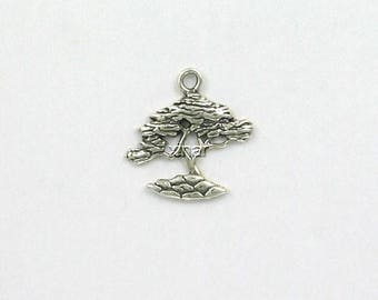 Sterling Silver Charm Cypress Tree Charm
