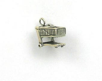 Sterling Silver 3-D Grocery Cart Charm