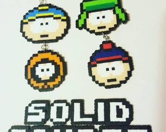 South Park beaded earrings