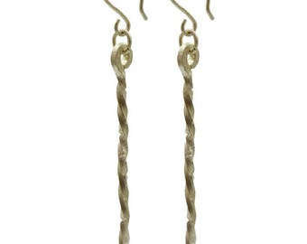 Classic Dangly Recycled Silver Earrings