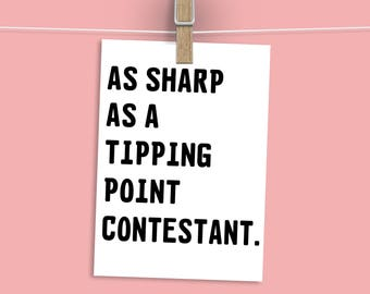 Tipping Point Humour Greeting Card