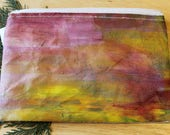 54 SUNSET - large reclaimed canvas zipper pouch
