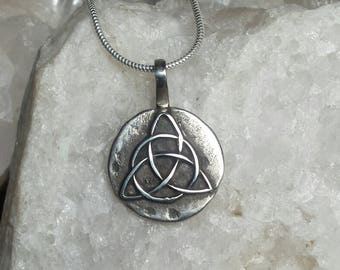 Sterling Silver Triquetra Pendant