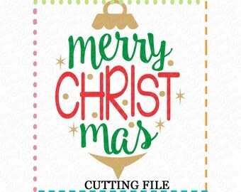 EXCLUSIVE Merry Christmas SVG, Merry Christmas cut file, ornament cutting file, ornament svg, Chrsitmas LIMITED commercial use