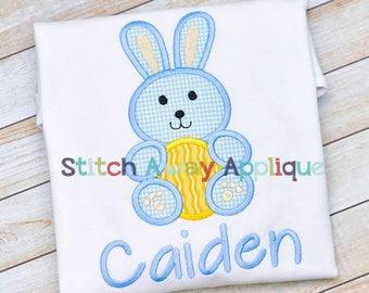 Easter Bunny Boy Machine Applique Desgin