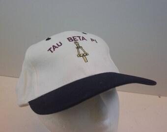 Tau Beta Pi 90s hat cap frat fraternity strap vintage
