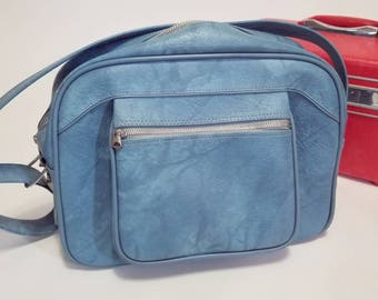 Vintage American Tourister Blue Carry On Overnight Bag