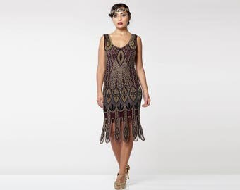 PRE ORDER Molly Purple Plum Flapper Dress 20s inspired Great Gatsby Art Deco Charleston Downton Abbey Bridesmaid Wedding guest Homecoming