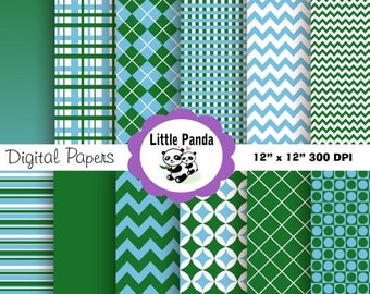 60% OFF SALE Golf Digital Paper Pack Scrapbook Papers -  12 jpg files 12 x 12 - Personal and Commercial Use - Instant Download - D62