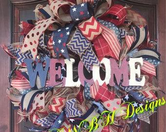 Patriotic Welcome Wreath