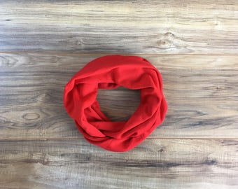 Baby Toddler Child Infinity Scarf - Solid Red - READY TO SHIP