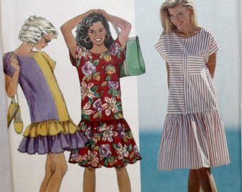 Misses Dress Sewing Pattern - Simplicity 9747 - Vintage Dress Sewing Pattern - Size Petite, Small, Medium, Large, Extra Large