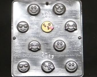 Emoji Bite Size Chocolate Candy Mold 1346