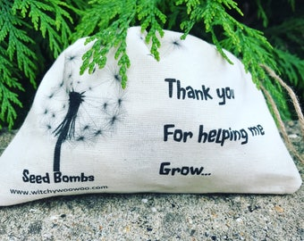 Seed bombs • Botanical seeds • seed ball • weddings • christening • baptism • memorial • teachers gift
