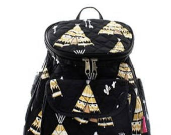 Quilted Teepee Backpack WITH FREE MONOGRAM