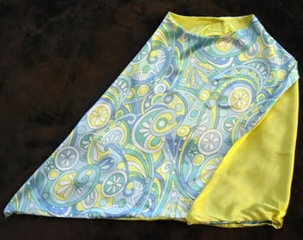 Blue yellow Swirl Cape, Small
