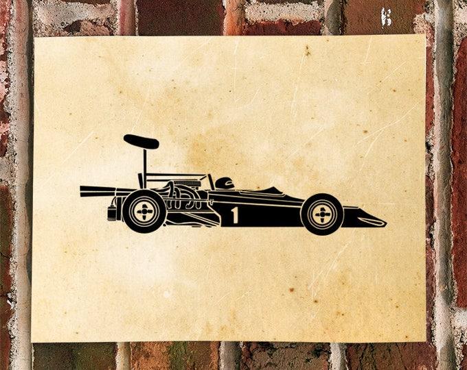 KillerBeeMoto: Limited Print Vintage Formula 5000 Race Car Automotive Print Print 1 of 100