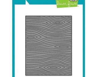 Lawn Fawn - Lawn Cuts - Dies - Stitched Woodgrain Backdrop