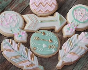 BOHO Baby Shower / Party Vanilla Sugar Cookies