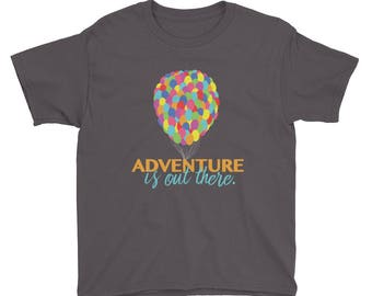 Youth Adventure is out There – Disney / Pixar Up Inspired Short Sleeve T-Shirt – Disney Inspired T-Shirt / Kids Shirt
