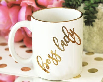 Boss Lady Mug Boss Lady Coffee Mug for Boss Gifts for Boss  (EB3141BSL)