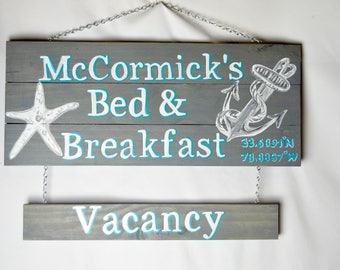 Custom Reversible Vacancy Sign Only