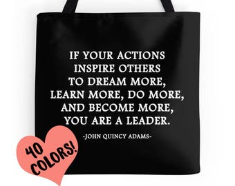 John Quincy Adams Quote, Leadership Quote, Motivational Print, Inspirational Quote, Classroom Quote Decor, Education Quotes, Teacher Quotes