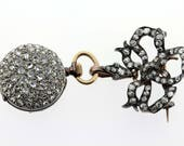 Aggasiz Brooch French Pocket Watch With Diamonds