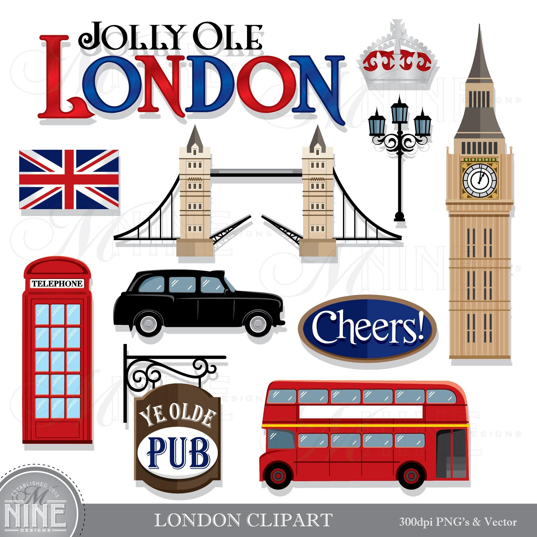 London Clip Art : London clip art theme clipart download