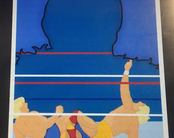 Ric Flair: V. Hulk Hogan (Pro Wrestling Minimalist Print)