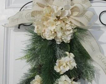 CHRISTMAS SWAG~ Christmas Door Swag , Wreath Alternative Decor , Christmas Wreath ,Christmas Swag ,Holiday Wreath , Holiday Decor , Seasonal