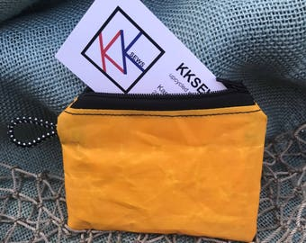 Recycled Gift Card Holder/Recycled Kite Sail Coin Pouch