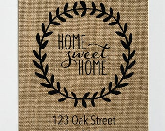 UNFRAMED Home Sweet Home / Burlap Print Sign 5x7 8x10 / CUSTOM Rustic Vintage Home Decor Love House Sign Housewarming Sign