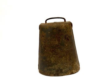 Giant Rustic Antique Cow Bell