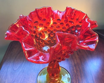 1950s Fenton Glass Candy Dish