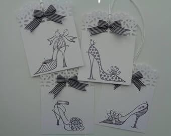 4 Fancy High Heel tags - Diva High Heels - Girlfriend Heels