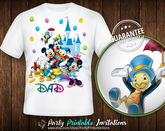 Disney birthday shirt, Disney birthday shirt for men, Disney birthday shirt family, family disney shirts personalized