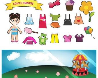 Paper Doll Printable PDF - Personal Use