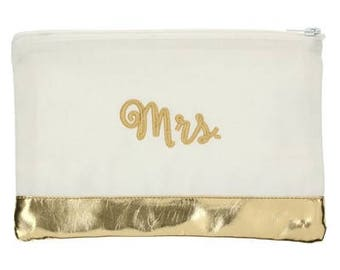 Heartstrings Personalized Metallic Block Pouches