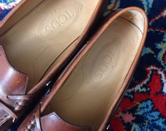TOD's vintage leather loafers