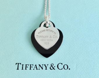 Authentic tiffany etsy authentic tiffany co please return to tiffany sterling silver and black onyx heart pendants audiocablefo Light gallery